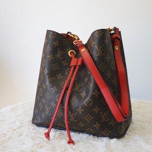 Louis Vuitton 11 x 11 x 8 red neonoe